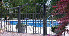 Boca Grande Black Aluminum Pool Fence and Gate