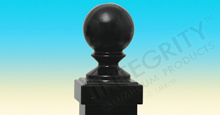 Decorative Black Ball Cap For Alumimun Fence Posts