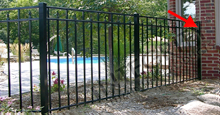 Black Aluminum Sanibel Fence With End Post
