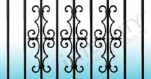 Ornamental Estate Scroll Accent On Aluminum Fence Gate and Aluminum Fence Panels