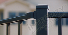 Horizontal Adjustable Rail Mounting Bracket For Aluminum Fence Panels