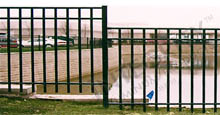 San Marino Black Aluminum Fence Panels Staggered Heights