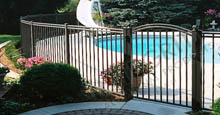 Boca Grand Aluminum Pool Gate and Fence Meets B.O.C.A. Pool Safety Code