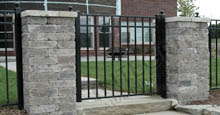Aluminum Gate Attached To Pillars Using Aluminum Fence Posts
