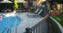 Curved Black Boca Grand Style Black Aluminum Pool Fence
