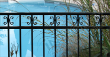 Amarillo Black Metal Residential Fence Panels With Butterfly Scrolls