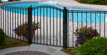 Boca Grande Style Aluminum Gate and Fence Meets B.O.C.A. Pool Safety Standards