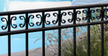 Camarillo Aluminum Pool Fencing with Decorative Butterfly Scrolls