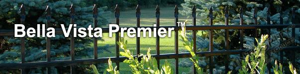 Bella Vista Ornamental Commercial Fence With Flat Finials