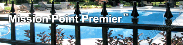 Mission Point Ornamental Commercial Fence With Finials