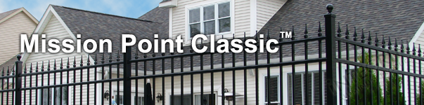 Mission Point Ornamental Residential Fence With Finials