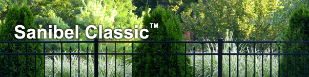 Sanibel Ornamental Residential Fence With Flattened Finials