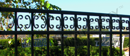Camarillo Residential Grade Fence With Decorative Butterfly Scrolls