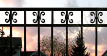 Amarillo Aluminum Residential Fencing With Decorative Butterfly Scrolls