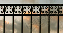 Camarillo Black Metal Residential Fence Panels With Butterfly Scrolls