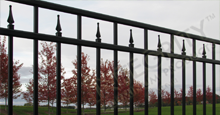 Excelsior Aluminum Residential Fencing With Contemporary Finials