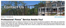 Online Contact Form For More Information on Aluminum Fence Products