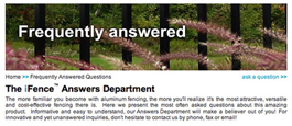 Online Tool To Answer Questions Related To Aluminum Fencing Products