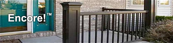 Black Aluminum Handrailing Installed on Front Porch