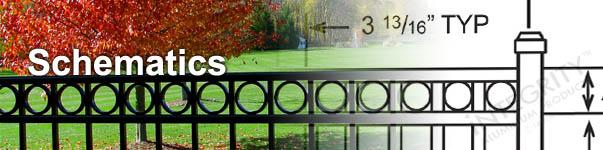 Aluminum Fence Architectural Schematics