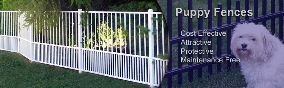Aluminum Fences puppy pickets